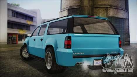 GTA 5 Declasse Granger Civilian für GTA San Andreas zurück linke Ansicht