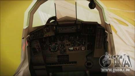 Mikoyan-Gurevich MIG-29A Russian Air Force für GTA San Andreas rechten Ansicht