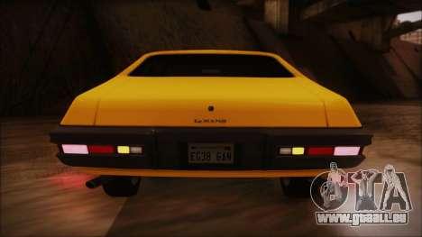 Pontiac Lemans Hardtop Coupe 1971 IVF АПП pour GTA San Andreas vue de dessus