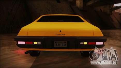 Pontiac Lemans Hardtop Coupe 1971 IVF АПП für GTA San Andreas obere Ansicht