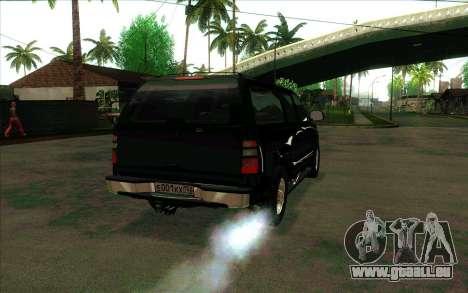 Chevrolet Suburban de FSB pour GTA San Andreas vue de droite