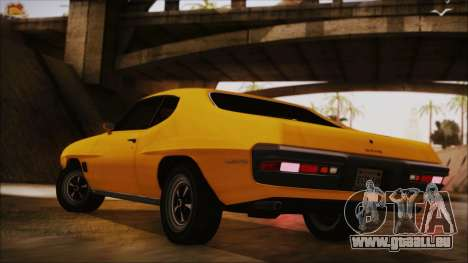 Pontiac Lemans Hardtop Coupe 1971 IVF АПП pour GTA San Andreas laissé vue