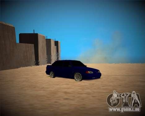 VAZ-2115 pour GTA San Andreas vue intérieure
