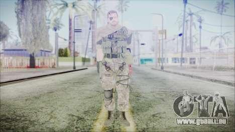 MGSV Phantom Pain Snake Scarf Woodland pour GTA San Andreas deuxième écran