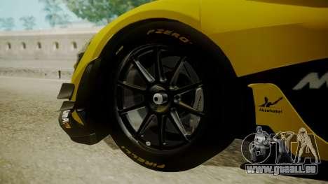 McLaren P1 GTR 2015 Yellow-Green Livery pour GTA San Andreas sur la vue arrière gauche