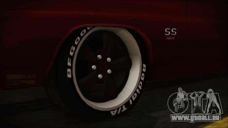 Chevrolet Chevelle Drag Car für GTA San Andreas zurück linke Ansicht