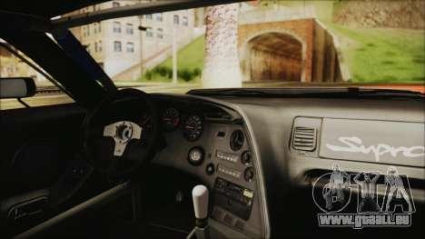 Toyota Supra JZA80 Kantai Collection Haruna PJ für GTA San Andreas Rückansicht