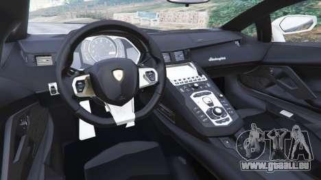 GTA 5 Lamborghini Aventador LP700-4 Dutch Police v5.5 hinten rechts
