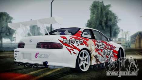 Lexus SC300 Edit pour GTA San Andreas sur la vue arrière gauche
