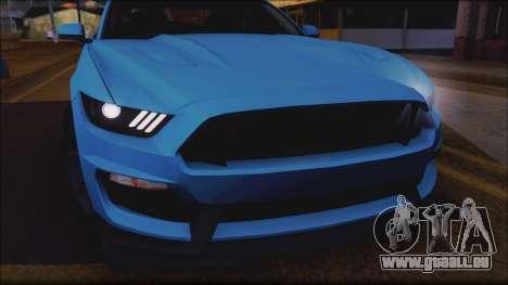 Ford Mustang Shelby GT350R 2016 für GTA San Andreas Motor
