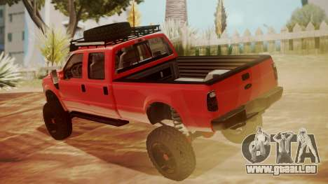 Ford F-350 2010 Lifted Sema Show für GTA San Andreas linke Ansicht