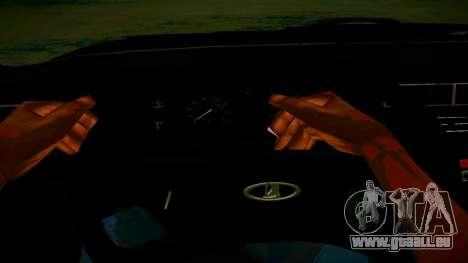 ВАЗ 2107 Licht Tuning für GTA San Andreas Innenansicht