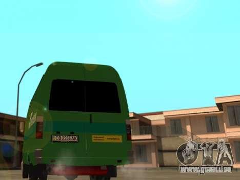 GAZelle 2705 Privat v2 für GTA San Andreas zurück linke Ansicht