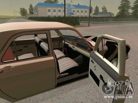 GAZ 24 BQ pour GTA San Andreas sur la vue arrière gauche