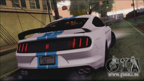 Ford Mustang Shelby GT350R 2016 für GTA San Andreas Seitenansicht
