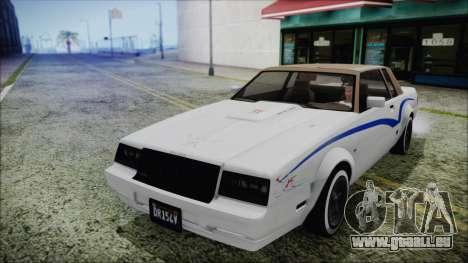 GTA 5 Willard Faction Custom without Extra IVF pour GTA San Andreas vue de côté