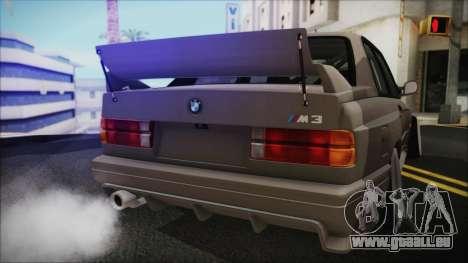 BMW M3 E30 Camber pour GTA San Andreas vue de droite