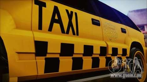 Albany Cavalcade Taxi (Hotwheel Cast Style) für GTA San Andreas rechten Ansicht