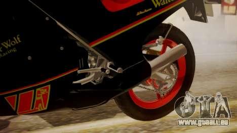 Suzuki RG 250G Walter Wolf für GTA San Andreas rechten Ansicht