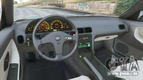 GTA 5 Nissan 240SX arrière droit vue de côté