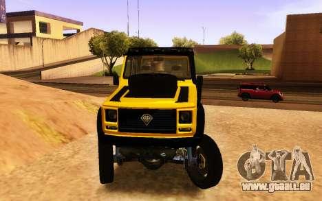 Bienfaiteur Dubsta 6x6 Custom Tuning pour GTA San Andreas vue de droite