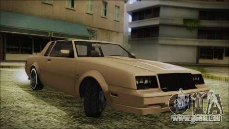 GTA 5 Willard Faction Custom Bobble Version pour GTA San Andreas sur la vue arrière gauche