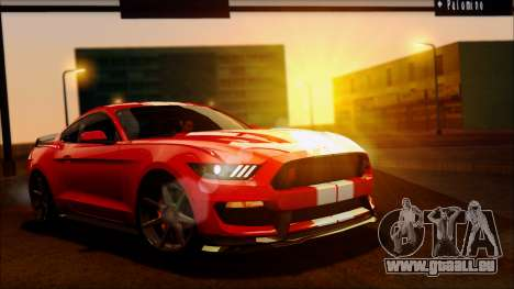 Ford Mustang Shelby GT350R 2016 pour GTA San Andreas