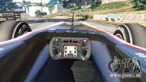GTA 5 Hispania F110 (HRT F110) v1.1 arrière droit vue de côté
