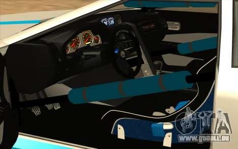 Elegy DRIFT KING GT-1 pour GTA San Andreas vue de dessus