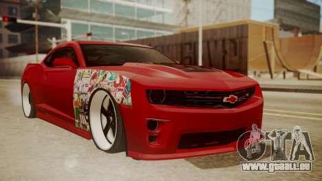 Chevrolet Camaro ZL1 2014 pour GTA San Andreas