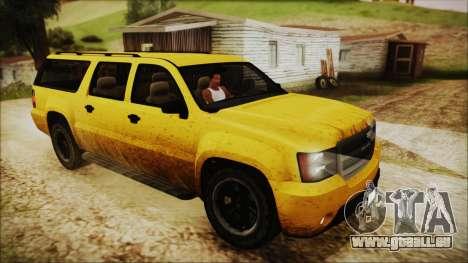 GTA 5 Declasse Granger IVF pour GTA San Andreas vue de dessous