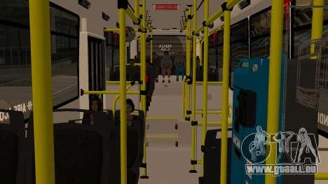 Todo Bus Agrale MT17.0LE AA für GTA San Andreas Rückansicht