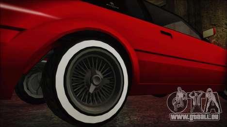 GTA 5 Willard Faction Custom without Extra IVF pour GTA San Andreas sur la vue arrière gauche