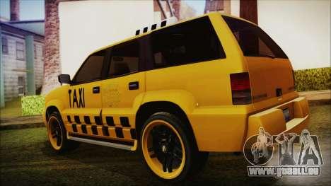 Albany Cavalcade Taxi (Hotwheel Cast Style) pour GTA San Andreas laissé vue