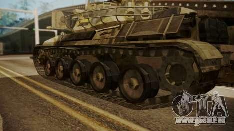 AMX 30 from Mercenaries 2 World in Flames pour GTA San Andreas sur la vue arrière gauche