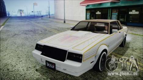 GTA 5 Willard Faction Custom without Extra Int. pour GTA San Andreas vue arrière