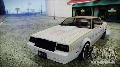 GTA 5 Willard Faction Custom Bobble Version für GTA San Andreas Rückansicht