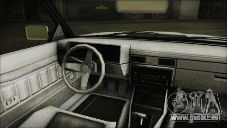 GTA 5 Willard Faction Custom without Extra Int. pour GTA San Andreas sur la vue arrière gauche