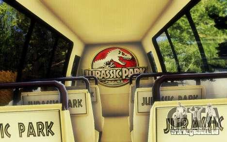 Jurassic Park Tour Bus pour GTA San Andreas vue de droite