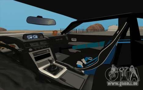 Elegy DRIFT KING GT-1 pour GTA San Andreas vue de côté