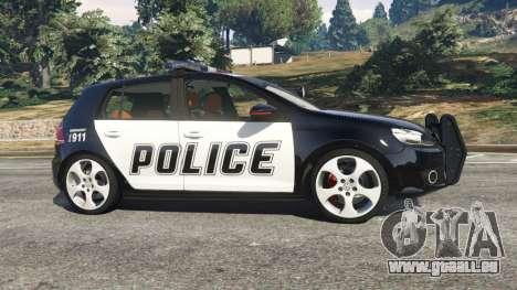 Volkswagen Golf Mk6 Police für GTA 5