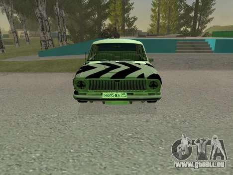 GAZ 24 BQ pour GTA San Andreas laissé vue