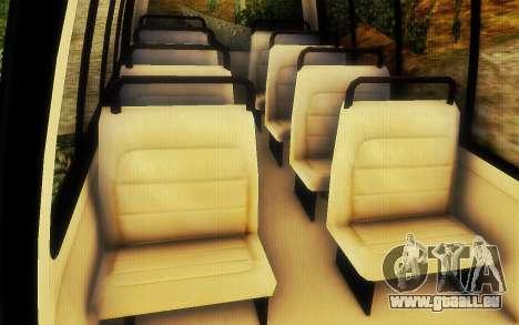 Jurassic Park Tour Bus pour GTA San Andreas vue arrière