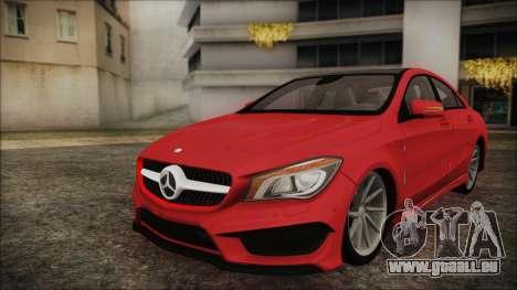 Mercedes-Benz CLA 250 für GTA San Andreas zurück linke Ansicht