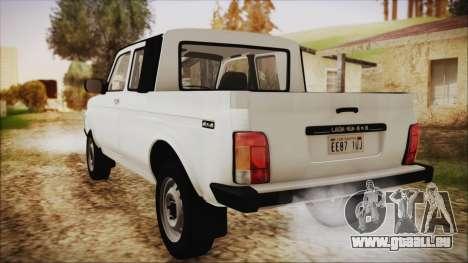 VAZ 2329 Niva 4x4 pour GTA San Andreas laissé vue
