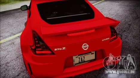 Nissan 370Z Nismo 2010 Angel Beats Itasha pour GTA San Andreas vue de dessous