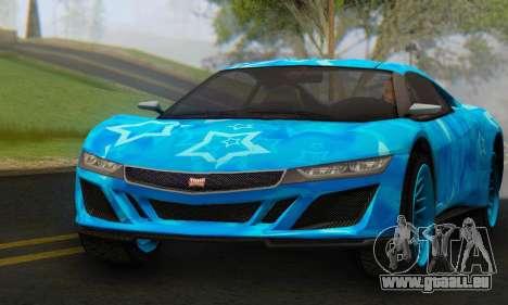 Dinka Jester (GTA V) Blue Star Edition pour GTA San Andreas vue de droite