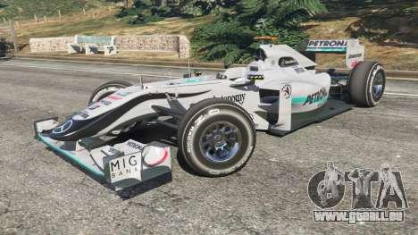 GTA 5 Mercedes-Benz MGP W01 [Michael Schumacher] v1.1 rechte Seitenansicht