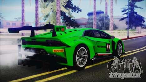 Lamborghini Huracan 610-4 GT3 2015 pour GTA San Andreas laissé vue
