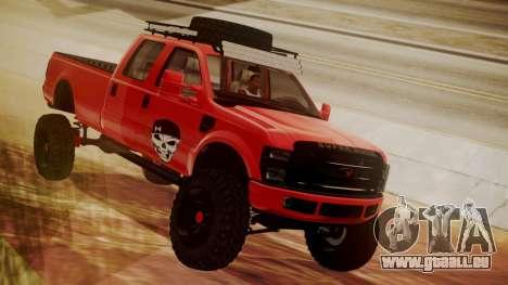 Ford F-350 2010 Lifted Sema Show für GTA San Andreas rechten Ansicht